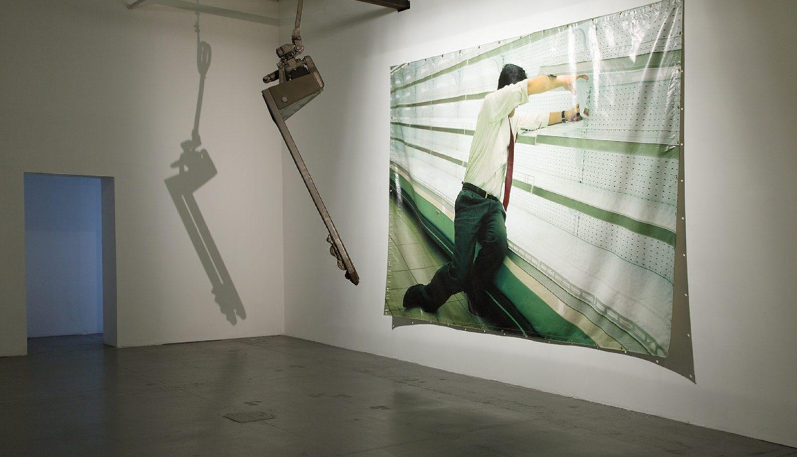 View of the exhibition: Bon Travail (3 March– 7 April 2013). © Dirk Pauwels.