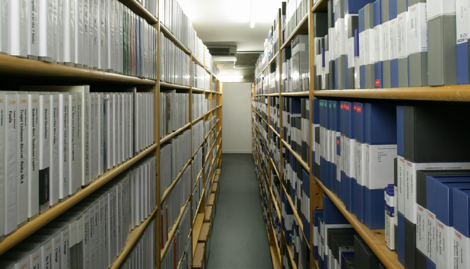 View of the ARGOS films and tapes archive (2014).
